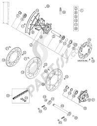 Wheel d ed 640 lc4 ktm 640 lc4 adventure 2003 eu ktm motorcycle640 lc4 adventure rear wheel