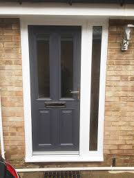grey upvc front doors. light grey composite front door - the is easily among very used fixtures in house. it functions as passageway for anybody who also f upvc doors