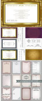 Элегантные фоны и рамки для грамот дипломов и сертификатов в  Элегантные фоны и рамки для грамот дипломов и сертификатов в векторе