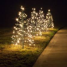 lighting outdoor trees. Lighted Warm White LED Outdoor Christmas Tree Lighting Trees T