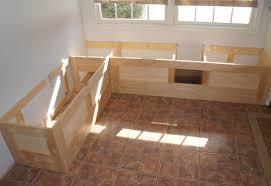 built in storage bench