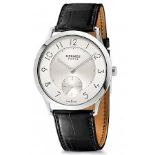 hermes watches jomashop hermes slim d silver dial automatic men s watch