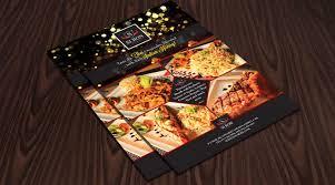 Flyer Design Food Hotel Restaurant Flyer Design Template One Dollar Graphics