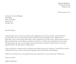letters of complaint co letters of complaint