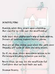 best seamus heaney ideas irish translator seamus heaney scaffolding