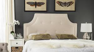 Tallulah Beige & White Arched Tufted Headboard Tallulah Beige & White  Arched Tufted Headboard HEADBOARDS