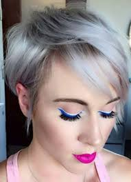 short hairstyles for women with thin fine hair silver pixie