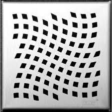 designline 6 in x 6 in square drain wave grate