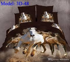3d gallop horse animal comforter set queen jpg