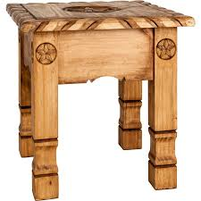rustic end tables. Texana Star Top Rustic End Table Tables