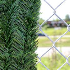 Contemporary Chain Link Fence Slats Image Of Intended Inspiration Decorating