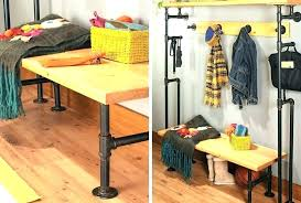how to make a clothes rack clothes rack pipe coat rack pipe build a bench coat