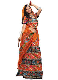traditional multi colored wedding indian chaniya cholis