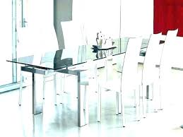 modern glass dining room sets all table black set white mid century