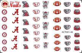 Alabama Nail Art Designs Amazon Com Alabama Crimson Nail Art Decals Clear Vinyl