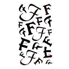 799 5 Ks Písmeno F Vodotěsný Dočasné Tetování 175 Cm 10 Cm
