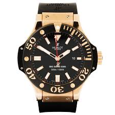 pre owned watches from berry s jewellers hublot big bang 18ct rose gold black rubber strap men s watch pre owned