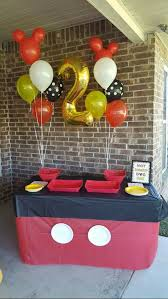 Mickey Mouse Birthday Party Decorations Unique Cake Decoration Table