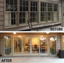 door patio window world: patio door and windows before and after