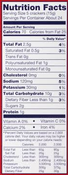 Ritz Crackers Nutrition Chart Nabisco Ritz Whole Wheat Classic Crackers 12 9 Oz