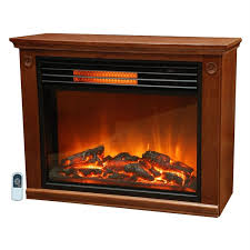 lifesmart large room infrared quartz fireplace in burnished oak finish w remote