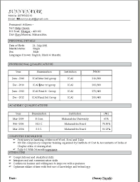 Resume Styles And Formats Proper Resume Layout Proper Resume Format
