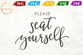 please seat yourself bathroom sign svg cut files pdf png example image 1