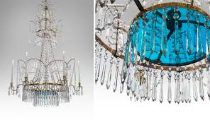 russian cut glass silvered and gilt bronze 7 light neoclassical chandelier with turquoise glass plateau