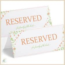 reserved sign templates reserved table sign template j ole com