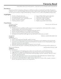 Waitress Resume Examples Cool Waiter Resume Samples Example Of Waiter Resume Waitress Resume