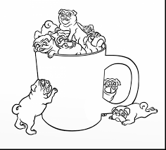 pug coloring pages printable image throughout page for pug coloring pages