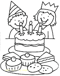 Birthday Cake Coloring Page Printable At Getdrawingscom Free For