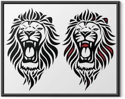 Plakáty Tetování Lev Pixers žijeme Pro Změnu