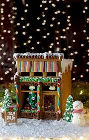 christmas house template victorian storefront gingerbread house