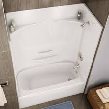 4 piece tub shower combo. essence 4 piece white fibreglass right hand tub and shower less cap detailed view combo