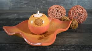 Decorative Woven Balls Best Decorative Bowl With Candle And Woven Balls Stock Photo Image Of