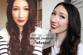 bright eyes bold lips fall winter make up tutorial