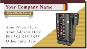 Opening A Vending Machine Business Delectable Vending Route Business Cards Vending Machine Business Cards In