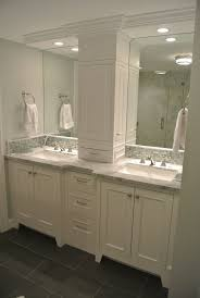 Bathroom Cabinet Tower Double Vanity Storage Tower Love The Doors On The Sides Instead