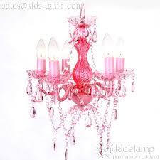 pink chandelier lighting. Most Popular Acrylic Plastic Pink Chandelier For Girls Room Kidslampcom Lighting