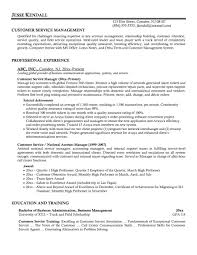 Customer Service Manager Resume Sample Sample Resumes