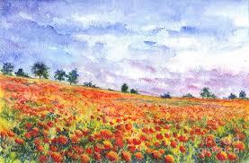 poppy painting poppy field by wisniewski