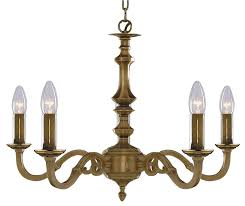 malaga solid cast antique brass 5 light chandelier