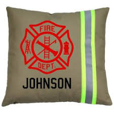 firefighter gifts personalized firefighter pillow