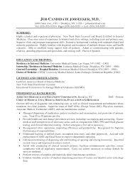 Physician Resume Examples Sidemcicek Com