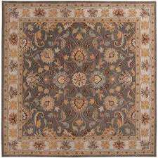 john charcoal gray 6 ft x 6 ft square area rug