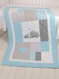 Best 25+ Baby quilts ideas on Pinterest | Baby quilt patterns ... & Aqua Gray Blanket, Elephant Quilt Blanket, Chevron Baby Patchwork Blanket  by Customquiltsbyeva on Etsy Adamdwight.com