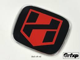 black and red honda logo. hblade logo jdm emblem color changing overlays front u0026 rear set u2013 grafixpressions black and red honda
