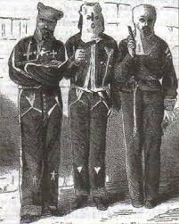 Реконструкция Юга США радикальная во второй половине xix века  Члены ку клукс клана арестованные в 1871 г в штате Миссисипи