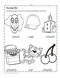 Learn to write, recognize, and say the letter c c. The Letter C Worksheets